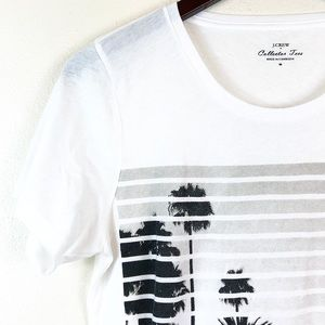 J. Crew Factory Collector Tee White Palm Tree M